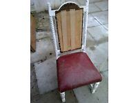 vintage retro dining chair hallway chair nursing chair for refurb shabby chic(2 availible)