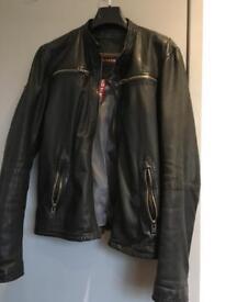 Super dry leather biker jacket