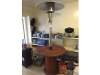 Gas Patio Heater with table