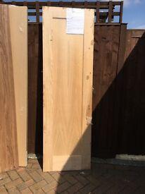 4 shaker style oak finish doors