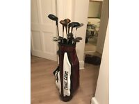 Mixed golf club set with Tour Line bag and rain cover