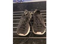 Zara grey sparkle trainers size 9.5