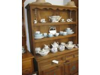 STURDY ALL PINE WELSH DRESSER. MANY FEATURES
