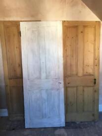 3 internal wooden pine doors