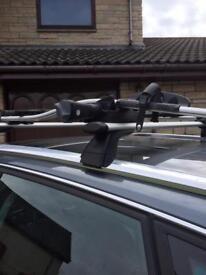 Audi roof bars and 2 cycle carrier