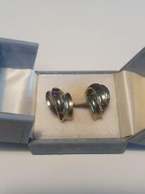 Beautiful Vintage Gold Hoop Art Deco Stud Earrings Wedding Anniversary Jewellery Gift