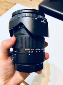 Sigma 17-50mm HSM Lens for Canon