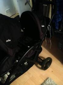 JOIE 2 Seater pushchair Buggy lightweight frame easy strong maneuver 2 Seater Bargain