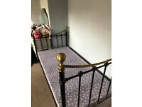 Metal single bed divan comes free