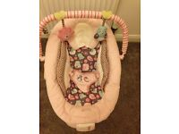 Bright Starts Baby Bouncer - pink