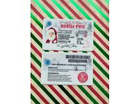 Santa's driving license for the children to find on Christmas morning.