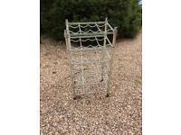 Wine rack: sturdy metal free-standing wine rack from Ikea