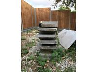 Concrete 6 feet slabs x 13 for garden fence or pavement