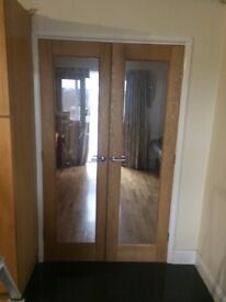 1 set of Hardwood internal doors.