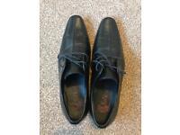 Next black smart shoes (sz10)