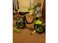 Ben 10 toddler bike with training wheels
