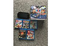 Ps vita slim with 5 games