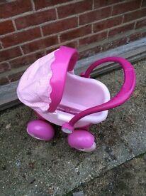 Toy pram pink