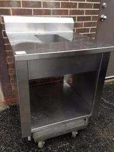 Stainless Steel Counter with Hand Sink