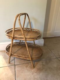 VINTAGE - RETRO 1970s Bamboo side/ Occasional Table