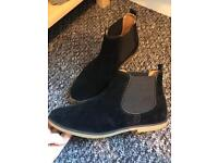 Oxford black suede boots size 9