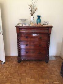 Victorian mahogany Scottish chest of drawers
