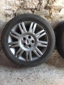 "Ford 17"" alloy wheels and winter tyres"