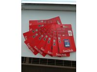 10 x Sandisk 16GB SDHC Card