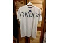 New Topman white London T shirt, men or woman medium topshop RRP £18 nice gift