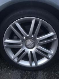 Audi s4 alloys set 18 inch genuine 5x112