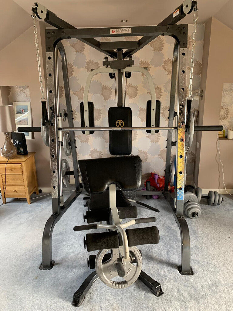 Marcy MD9010G Home Gym Smith Machine with 160kg weights ...