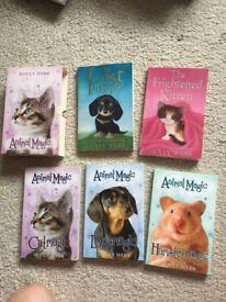 5 Holly Webb books. 3 X animal magic. Collect from YO51 near Boroughbridge