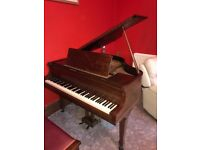 Squire Longson Baby Grand Piano with stool, circa 1920s, good condition