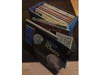 Box of classical music records