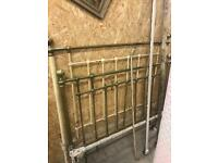Victorian double brass bed