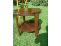 occasional oak rotating top table.(lazy sue).very old