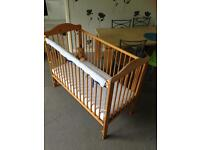 COT + lovely MATTRESS in GOOD condition! BARGAIN!