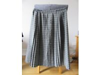 Ladies grey unlined pleated skirt size L.