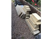 Sandstone coping stones 50mm. Variety of sizes, over 800 pounds worth must take all