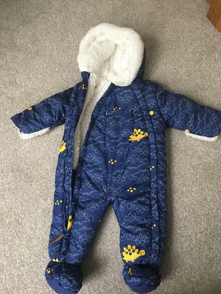 Baby boy snow suit by Mini club