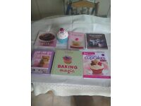Cupcake cook books and a cupcake moneybox