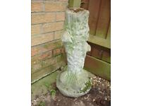 Garden Ornament of a Tree Trunk