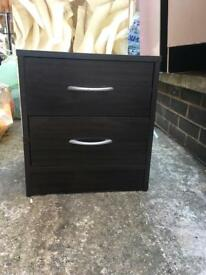 Brown bedside table good wooden material 2 drawers used £10