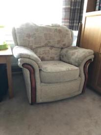 Two lounge arm chairs excellent condition.
