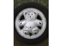 4x Ronal genuine teddy bear alloys wheels and tyres