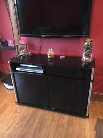 Black glass sideboard/tv unit