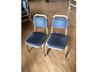 Padded chairs - from a church hall - handy as estra dining or living room chairs for a party!