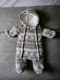 Baby Snow Suits / Pram Suits Up to 1 Month