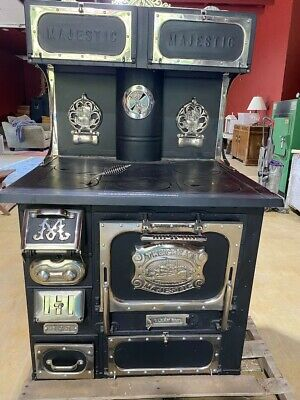 Replated and refurbished Majestic Wood Stove - two warming ovens