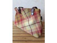 Anta Tartan Tote Bag (with leather handles)